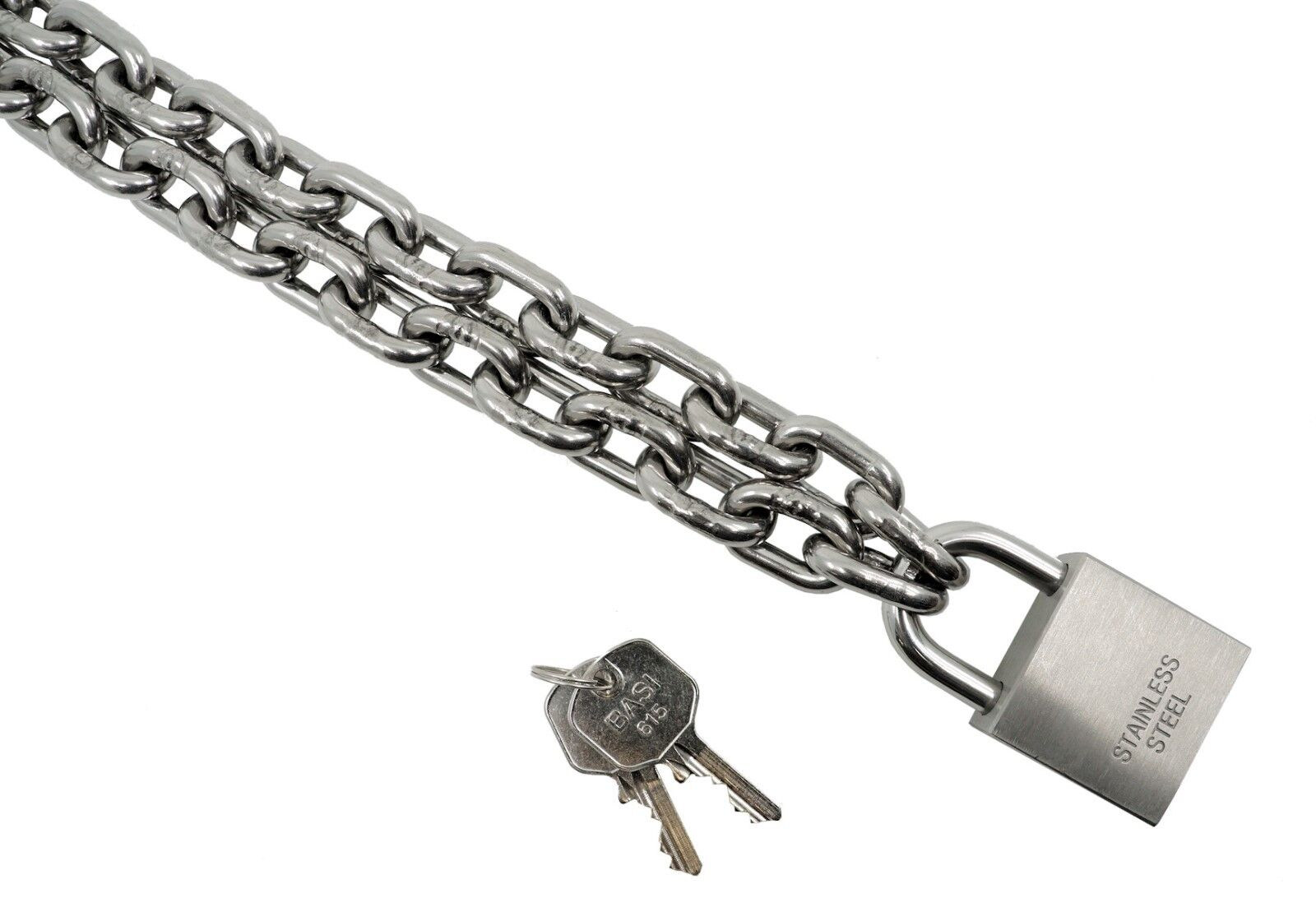 Kamero cadenas de acero inoxidable castillo, cadena de de de acero inoxidable con candado v4a inoxidable  ¡No dudes! ¡Compra ahora!