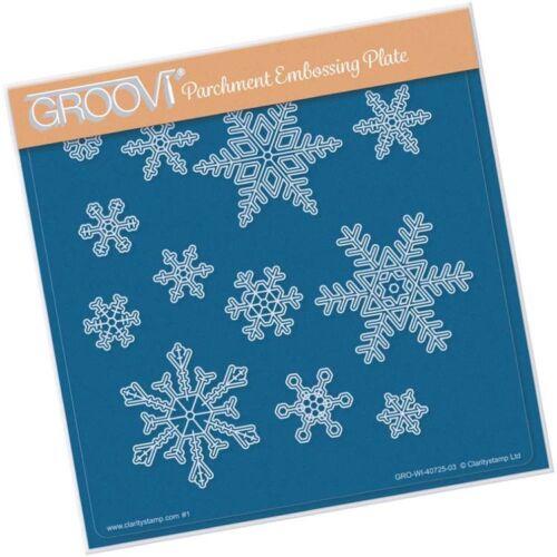 Groovi Plate A5 CHOOSE Small Large Snowflakes; Small Large Piercing Snowflakes