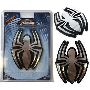 NIP Ultimate Spider-Man 3-D Chrome Plastic Auto Car Truck Emblem Decal Sticker
