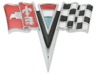 1963-1964 Corvette Front Nose X Flag Emblem Made In The Usa