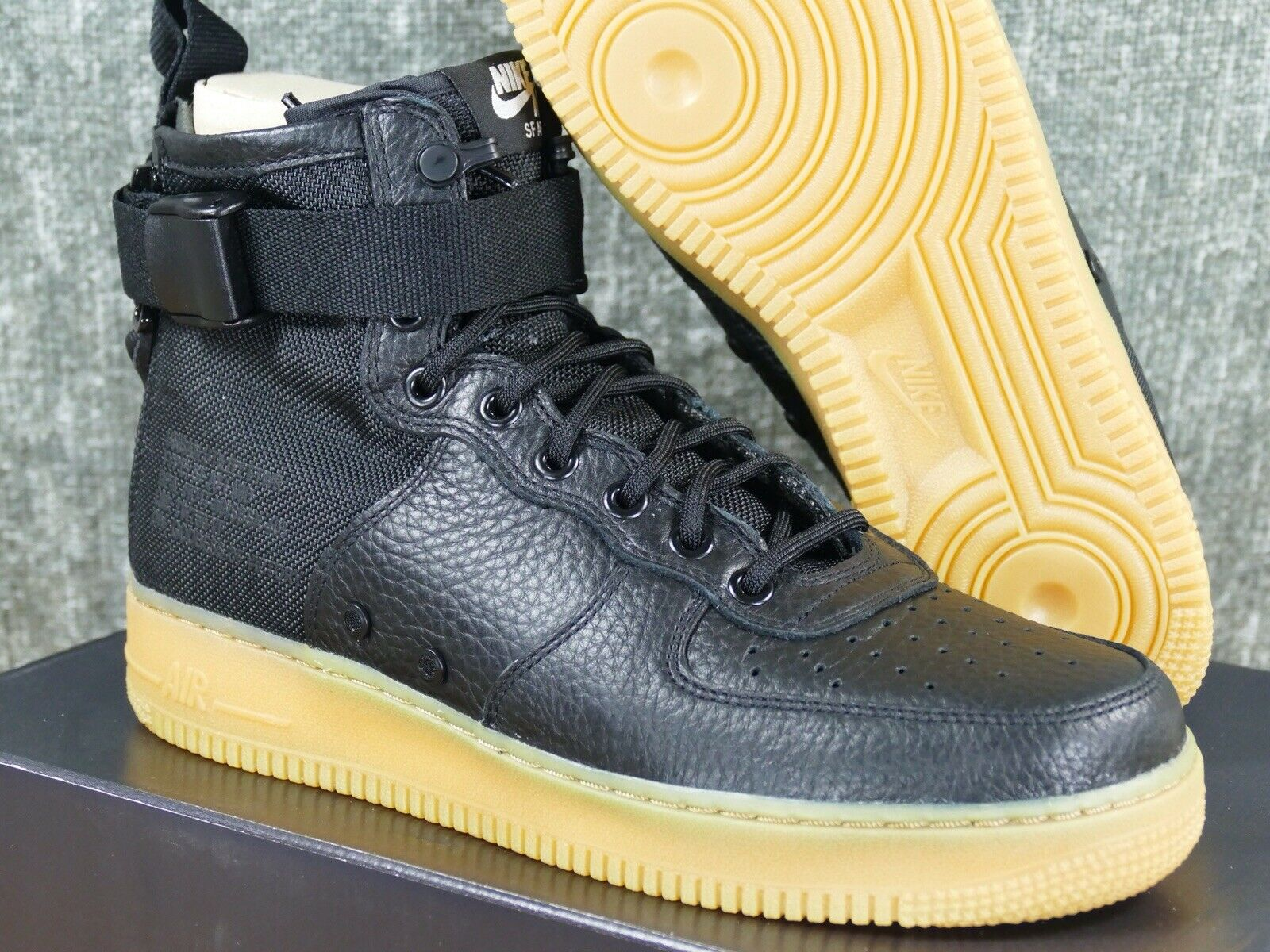 Nike Special Field Air Force 1 Mid Sz 9 black gum - sf af1 boot 2017 917753-003
