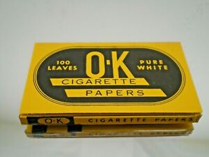 Vintage package of OK Cigarette Rolling Papers, great colors & graphic Pre 1959