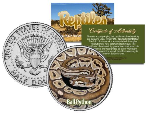 Collectible Reptiles BALL PYTHON JFK Half Dollar US Coin ROYAL SNAKE REGIUS