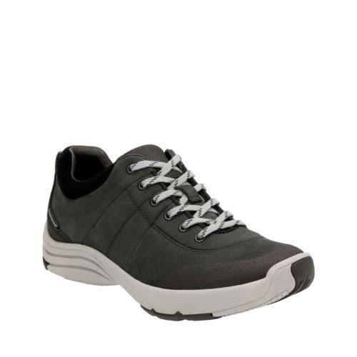Women's Clarks Wave Andes Andes Andes Sneaker 5.5 Black Nubuck 26122845 35.5 EU 489d4c
