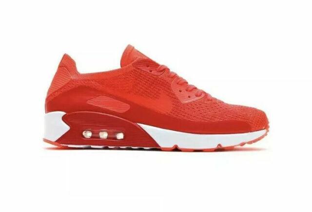 Size 8.5 - Nike Air Max 90 Ultra 2.0 Flyknit Bright Crimson 2017 ...