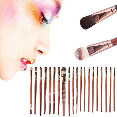 20PCS Make Up Brushes Kabuki Powder Cosmetic Foundation Contour Face Eyeshadow