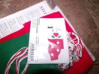Christmas Stocking Silverware Pockets Felt Applique Kit 4x6 Set Of Six Craft Supplies