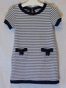 Baby-Girls-Primark-Blue-Stripe-Textured-Short-Sleeve-Dress-Age-12-18-Months