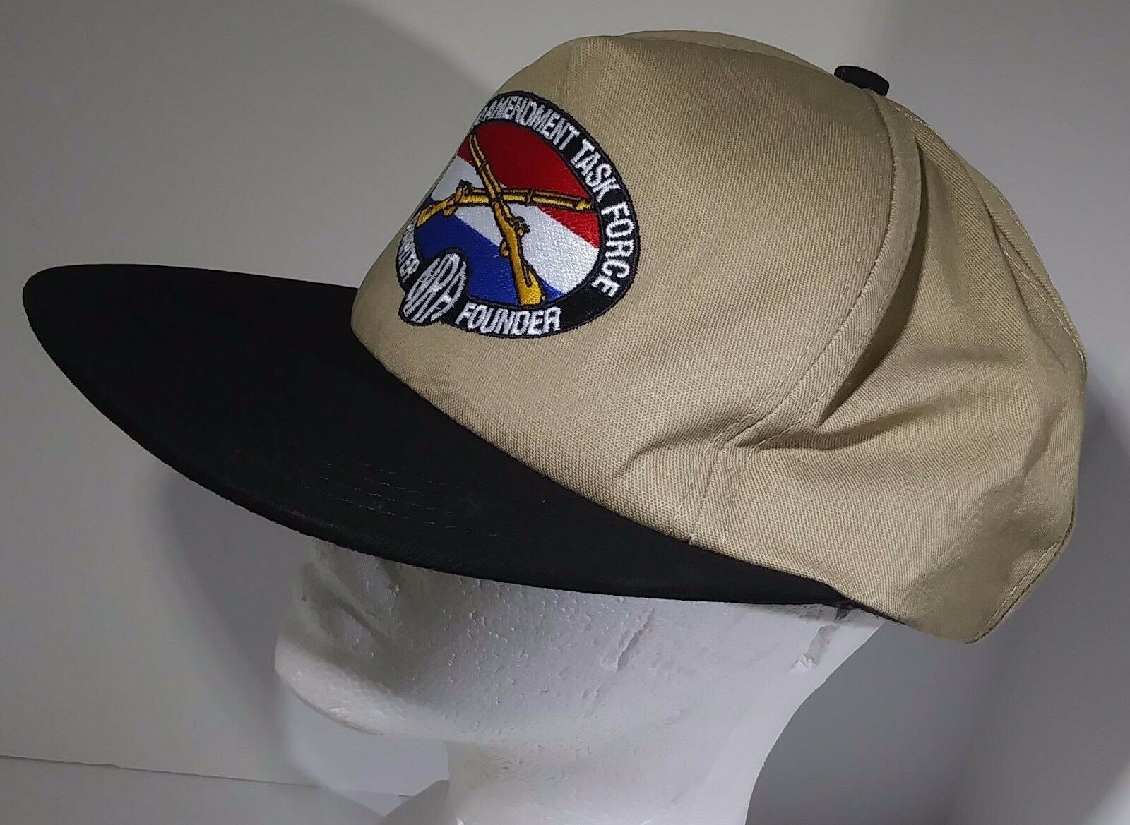 Made In USA Task Second Amendment Task USA Force NRA Embroidered Cap Beige Snapback Hat 4c44ac