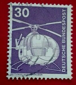 Germany:1975 Industry and Tecnic 30 Pfg. Rare & Collectible Stamp.