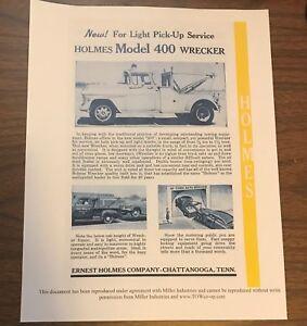 58 Ernest Holmes 400 Wrecker Tow Truck 3t Brochure Ebay
