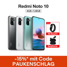 "Xiaomi Redmi Note 10 4GB 128GB Handy 6,43"" AMOLED 48MP 5000mAh 33W EU Version"