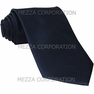 New Vesuvio Napoli Men/'s extra long necktie solid 100/% polyester prom Royal Blue