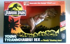 "Jurassic Park Young Tyrannosaurus Rex with ""Deadly"" Slashing Jaws in Sealed Box"