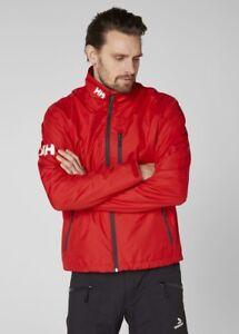 Helly-Hansen-Crew-Midlayer-Fleece-Lined-Waterproof-Jacket-30253-162-Red-NEW