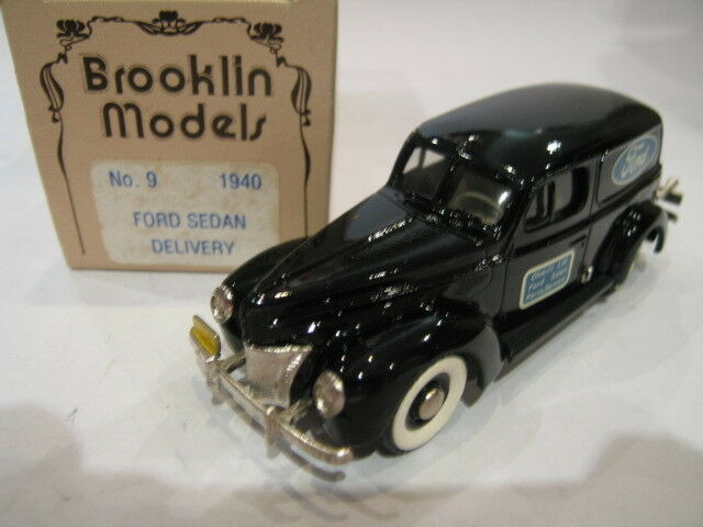 1 43 BROOKLIN 9 FORD SEDAN DELIVERY FORD SERVICE  1940  avec 100% de qualité et 100% de service