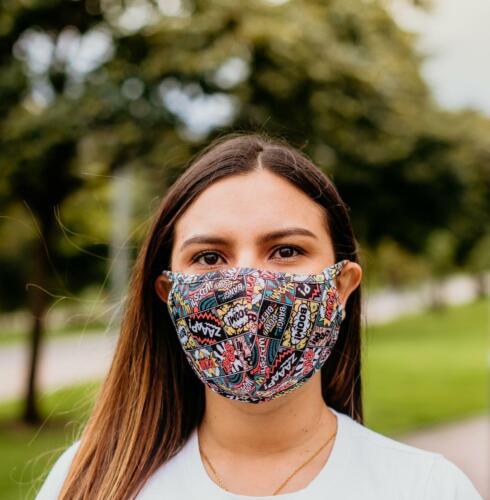 Unisex Reusable Non-medical Face Mask Comic