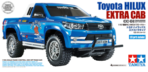 Kit charge double Tamiya 58663 Toyota Hilux Cc-01 Rc à cabine supplémentaire