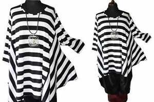 Lagenlook 60 6 shirt 7xl 5 Black Flügel amp;white 58 Blockstreifen tunika Gr rvxrwzP