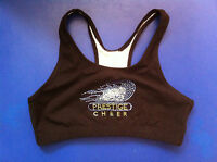 Pizzazz Sport Bra Top W/ Colored Rhinestones Workout/running