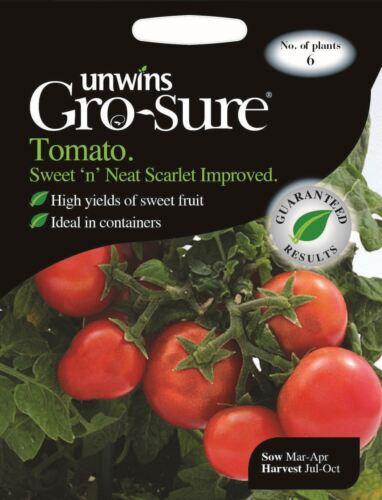 Unwins Pictorial Packet Vegetable Tomato Sweet /'n/' Neat Scarlet Improved 6 Seeds