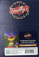 Timothy`s World Coffee Decaf Colombian K-cup Coffee (48 Count) , New, Free Shipp on sale