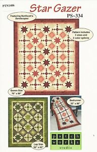 Strip-Easy Lone Star Quilt Pattern by Patti Carvey PTN 1592 PD-166 2 Sizes