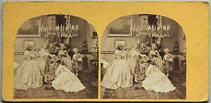 Francia Scena Da Genere Vintage Albumina Ca 1860