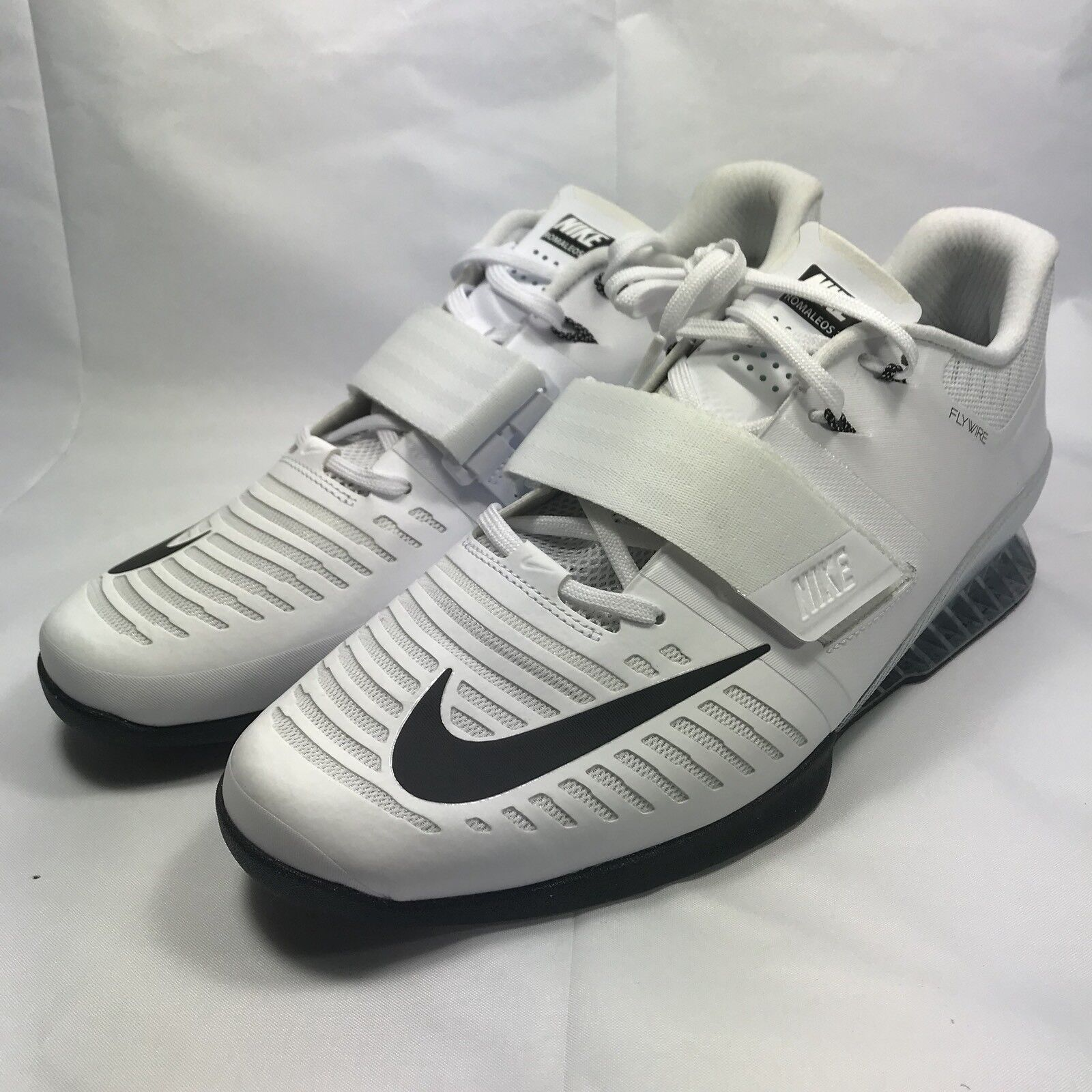 Nike Romaleos 3 Weightlifting Shoes White Volt Black 852933-100 - Men's 14 - New Brand discount