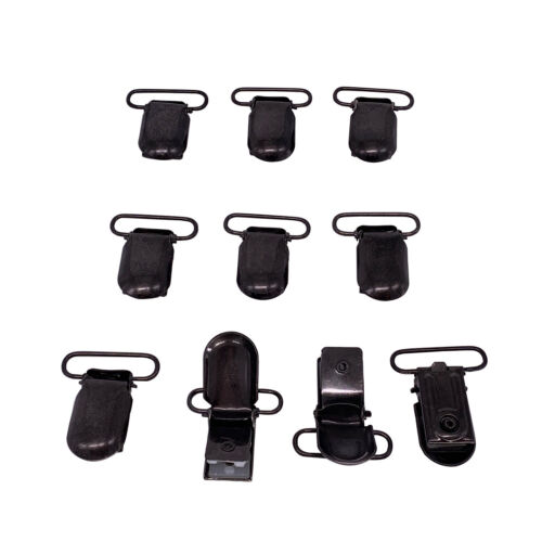 2.5cm High Quality Pacifier Holder Type Metal Dummy Clips for Boys Girls 10pcs