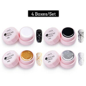 UR-SUGAR-4-Boxes-5ml-Soak-Off-Nagel-Gellack-Nail-Spider-UV-Gel-Polish-Elastisch