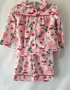 1e25bfdafccb Just One You Carter s Girls Toddler Pink Flannel Christmas Santa ...