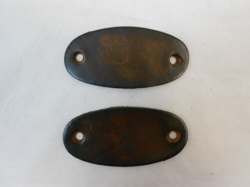 Oval Brown or Black 2 Large Hand Crafted Leather Stick Hair Barrette Ponytail
