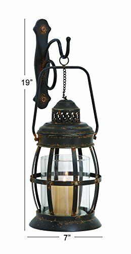 NEW Deco 79 55477 Metal /& Glass Wall Sconce FREE SHIPPING