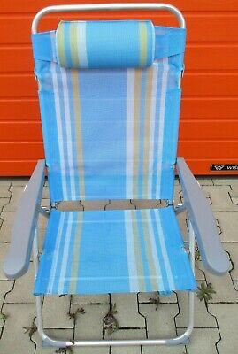 Ernst Ein Garten Klapp Sessel In Blau SchöNe Lustre