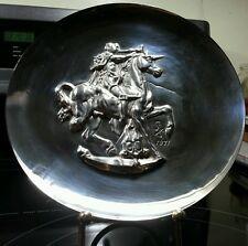 Dali, Salvador 1st Pure Silver Unicorn Dyonisiaque 1971 Limited Collector Plate