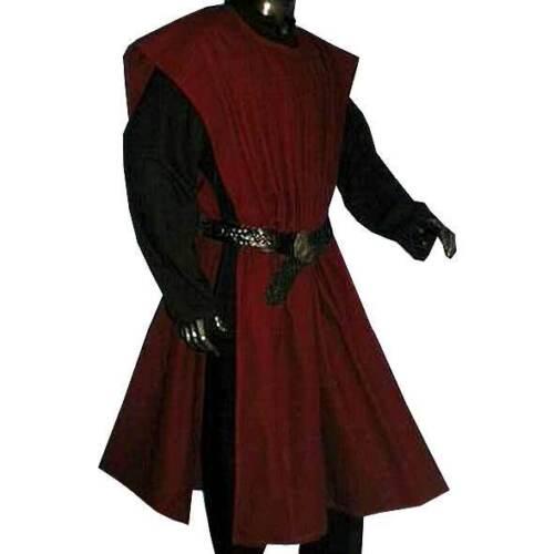 WAFFENROCK Gewandung Mittelalter #1491 weinrot rot dunkelrot für LARP Kostüm RPG