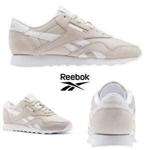 Reebok-Classic-Nylon-Neutrals-Shoes-Sneakers-Sandstone-White-BS9379-SZ-4-12-5