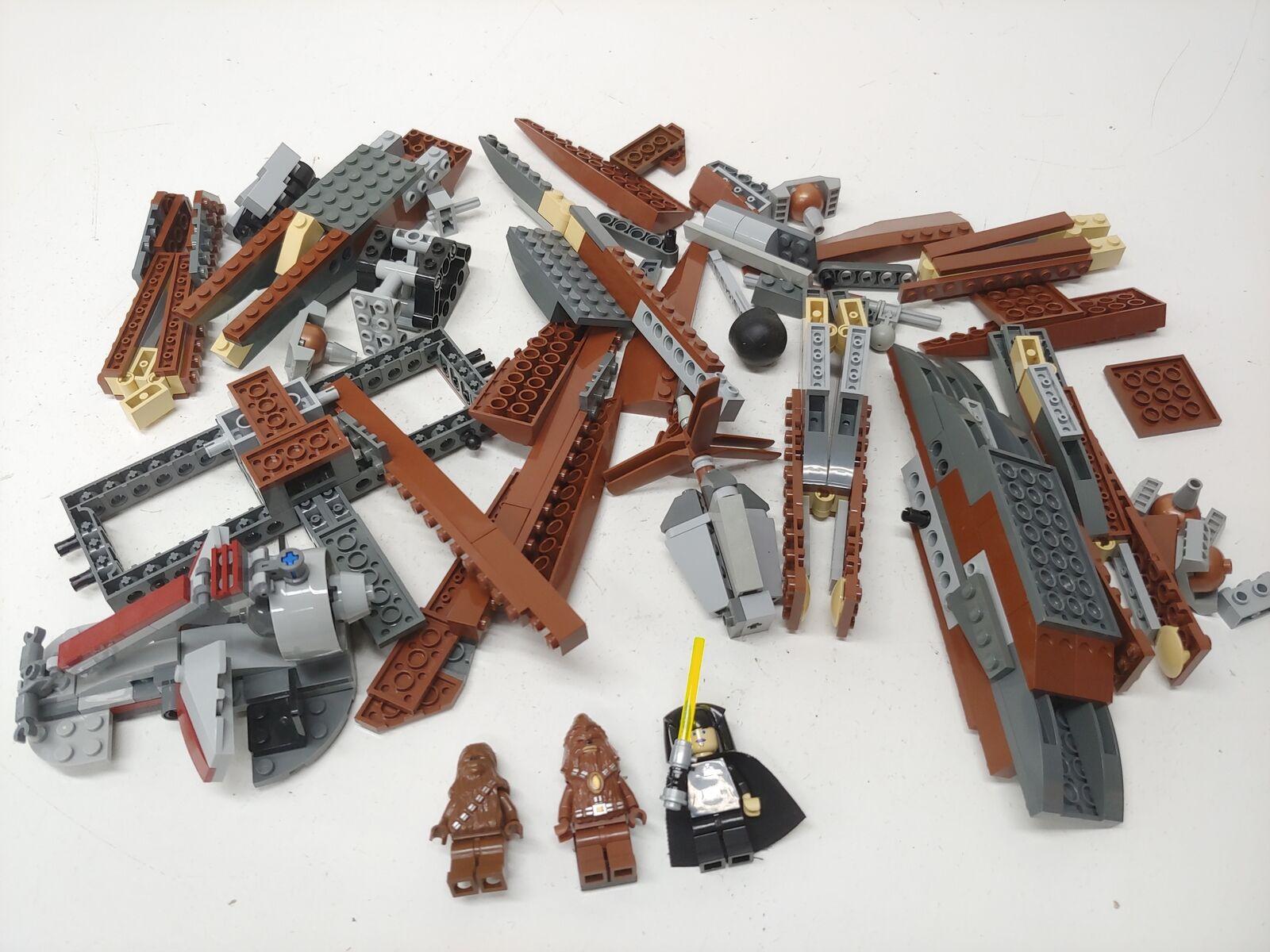 Lego Guerra De Las Galaxias Episodio Iii Wookiee catamarán (7260) con 3 Minifiguras