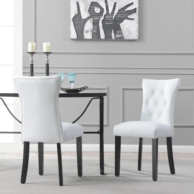 Baxton Studio Gridley White Plastic Modern Set Of 2 Dining Chair For Sale Online Ebay