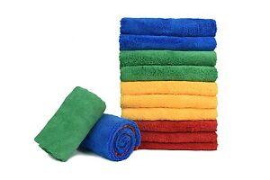 "12 X Microfiber Towel Elite Auto Car Wash Polish Clean Soft Thick Cloths 16/""x24/"""