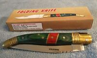Folding Knife 440 Surgical Steel Blade Brass Bolsters Cocobolo Wood Handle