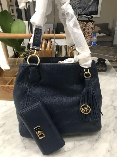 05901851fb Michael Kors Frances Large Grab Bag Slouchy Shoulder Tote   Karson Wallet  Navy