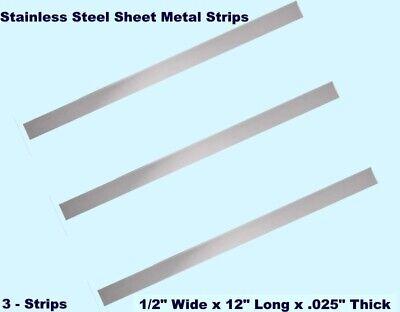 "1//2/"" Wide x 12/"" Long x .016/""  Mill Finish 6 Pack Sheet Metal Strips Aluminum"