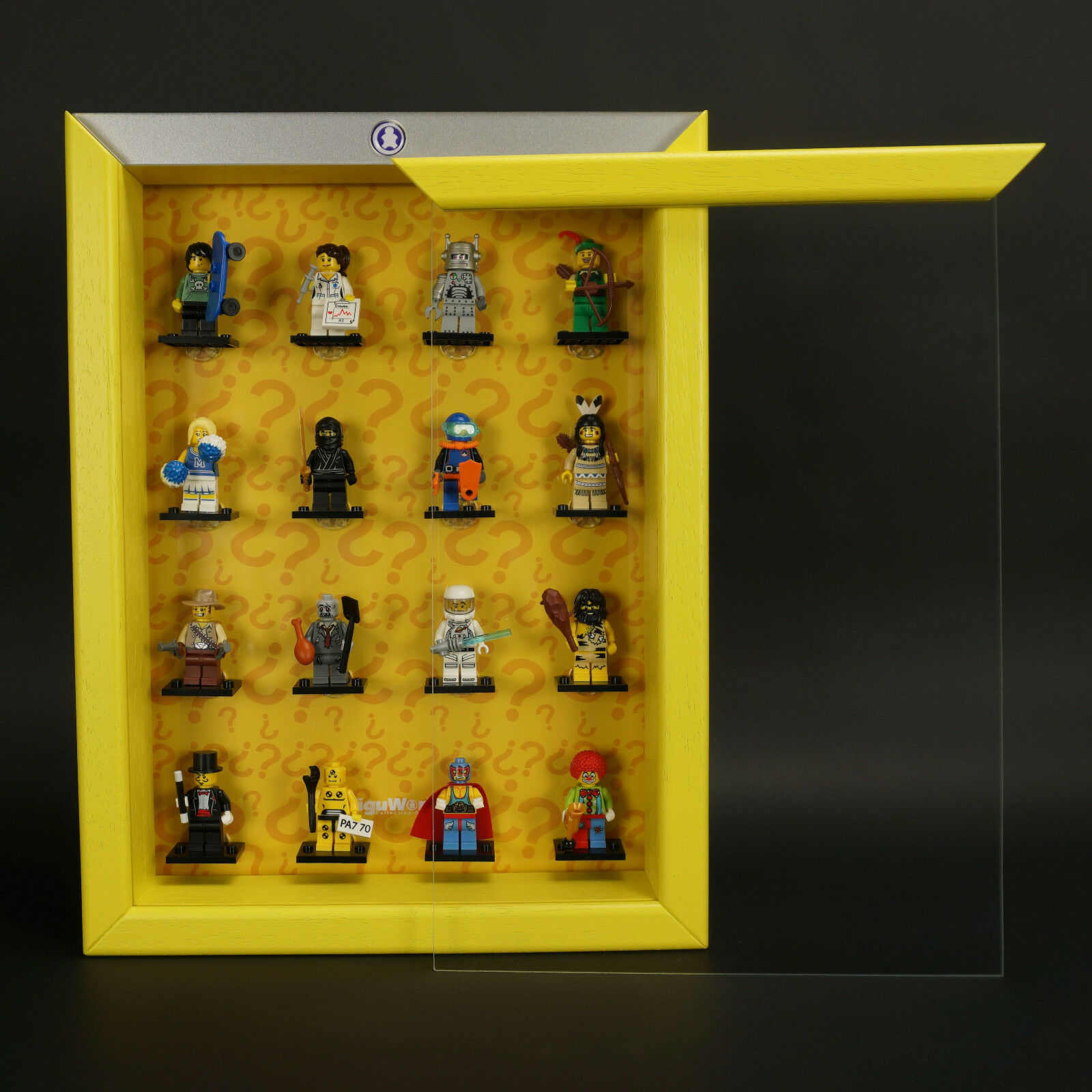 FiguCase Click System Vitrine für eure LEGO® Serie 1 8683 gelb