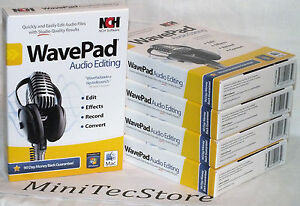 Details about NCH Software WavePad Audio Editing & MixPad Multitrack  Windows Mac New Sealed