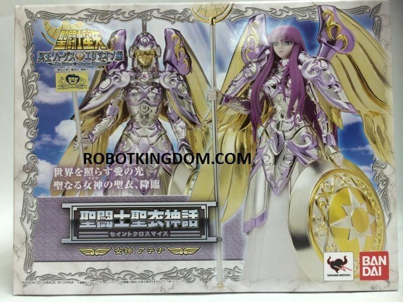 Bandai Myth Cloth Dios Paño Diosa Atena (Etiqueta de Japón)