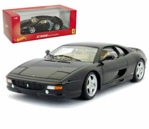 FERRARI-F355-BERLINETTA-BLACK-HOT-WHEELS-1-18-MATTEL-RED-FOUNDATION