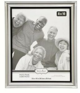 Special-Moments-Silver-Curved-Traditional-Photo-Frames-8x10-Easel-amp-Hang-Back