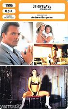 Fiche Cinéma. Movie Card. Striptease (USA) 1996 Andrew Bergman